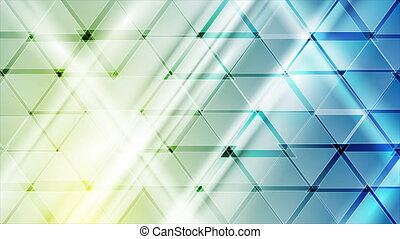 Blue yellow technology motion background with glossy ...