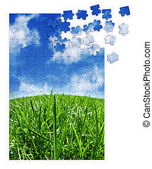 blue zöld, fű, rejtvény