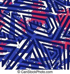 Blue zigzag seamless pattern.