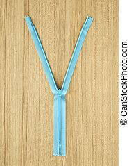 Blue zipper concept background