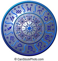 blue zodiac disc