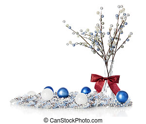 blueand, hvid, destillationsapparat liv, jul