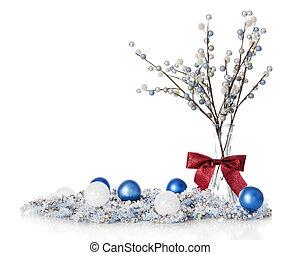 blueand, witte kerst, stilleven