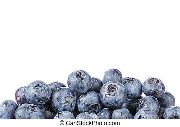 blueberries , πάνω , φόντο , φρέσκος , άσπρο , σύνορο