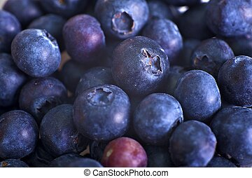 Blueberries Closeup-Macro Photo. Fresh Tasty Blueberries