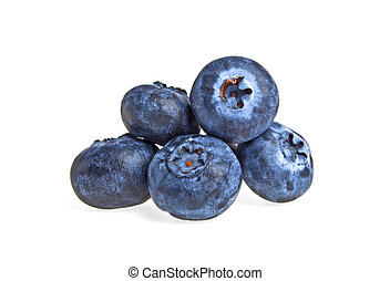 Blueberries isolated on a white background