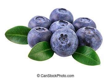 Blueberries isolated on white. Image included clipping path