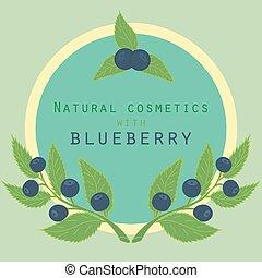 Blueberries label.