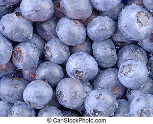 Blueberries Macro 2 - A high resolution horizontal macro of...
