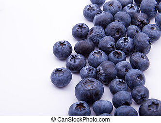 Blueberries on white background isolated