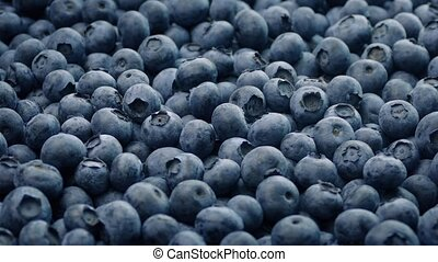 Blueberries Rotating Closeup - Pile of delicious blueberries...