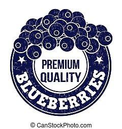 Blueberries stamp