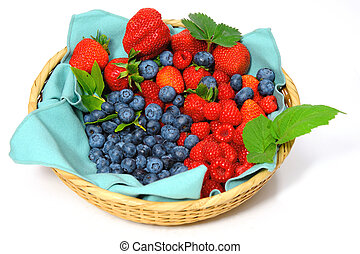 Blueberries, Strawberries and Raspberries - Assorted...