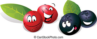Blueberry and Cranberry cartoon - Blueberry and Cranberry...