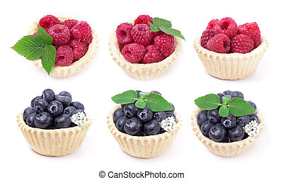 Blueberry and raspberry