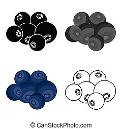 Blueberry berries, sweet fruit. Fruit single icon in cartoon style vector symbol stock illustration web.