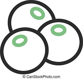Blueberry, diet, food icon vector image. Can also be used...