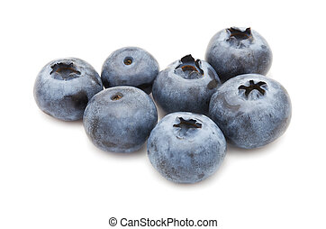 Blueberry - Fresh blueberry or bilberry isolated on white...