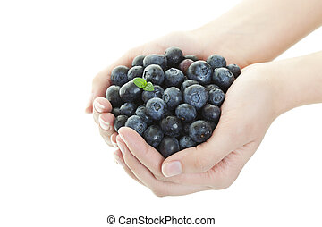 Blueberry Goodness - A double handful of freshly picked...