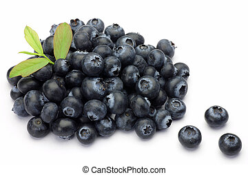 blueberry - I attached a leaf to many blueberries and took...