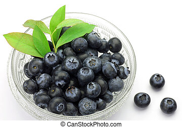 blueberry - I put many blueberries in a glasswork and took...