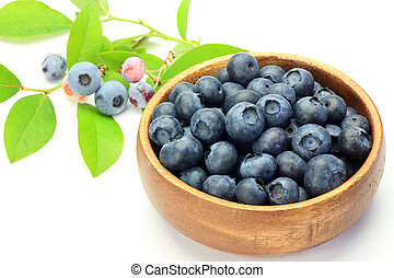blueberry - I put many blueberries in tableware and took it...