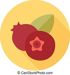 Blueberry icon. Blue berry fruit sign