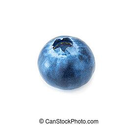 Blueberry isolated on white background, macro studio shit