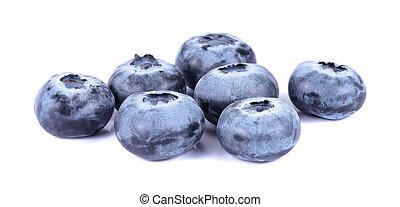 Blueberry isolated on white background.