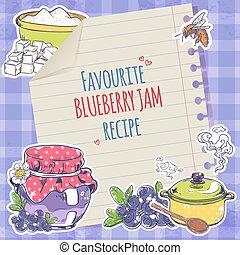 Blueberry jam poster