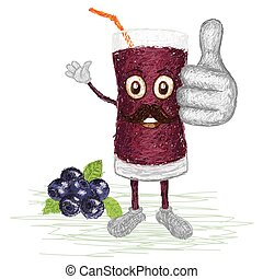 blueberry juice mustache