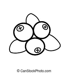 Blueberry line icon on a white background