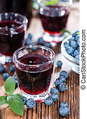 Blueberry Liqueur Shot - Blueberry Liqueur in a shot glass (...