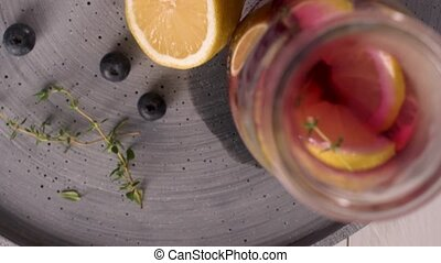 Blueberry mojito cocktail - Fresh blueberry summer mojito...
