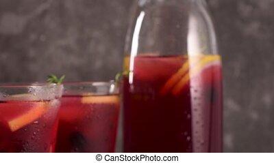 Blueberry mojito cocktail - Fresh blueberry summer mojito...