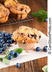 Blueberry muffins