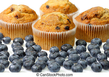 Blueberry muffins - Muffins with blueberries on bright ...