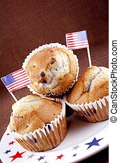 Blueberry muffins on the 4th