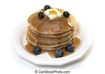 Blueberry Pancakes Isolated