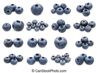 Blueberry set - Collection of fresh blueberry or bilberry ...