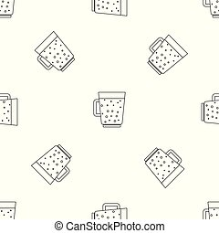 Blueberry smoothie pattern seamless vector