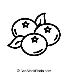 blueberry thin line vector icon