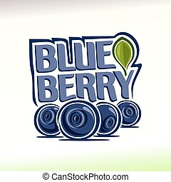 Blueberry - Vector illustration on the theme of the logo for...