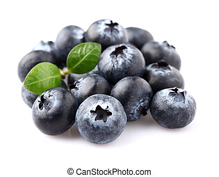 Blueberry with leaf