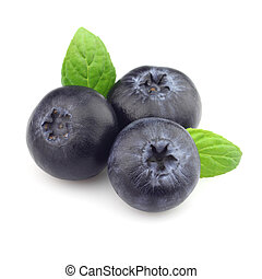 Blueberry with mint