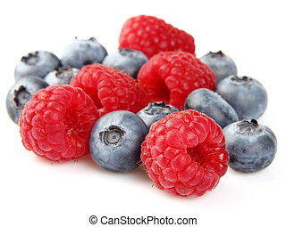 Blueberry with raspberry