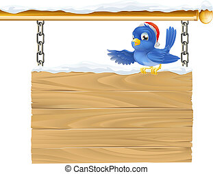 Bluebird Christmas sign