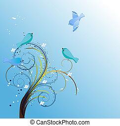Bluebirds background