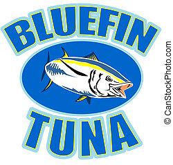bluefin tuna swimming