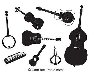 Bluegrass - A collection of typical bluegrass musical...